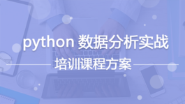 python数据分析实战培训