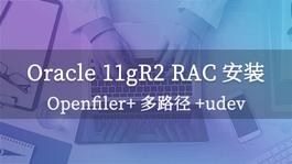 Oracle 11gR2 RAC安装--Openfiler